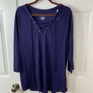 NWT LANE BRYANT 18-20 3/4 SLEEVE T-SHIRT